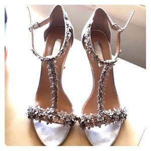 Gorgeous Formal flowered strap heels
